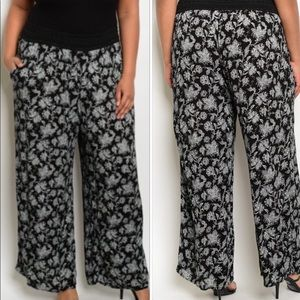 Floral Print Pants Plus Size
